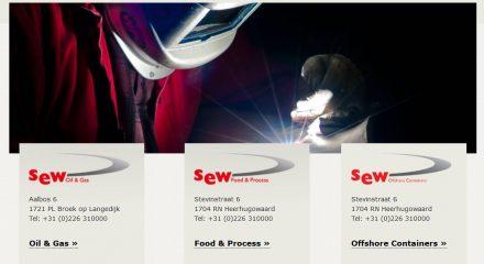 Nieuwe website SEW