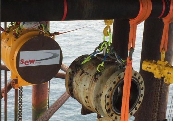 Vervangen 36″ Afsluiter Offshore